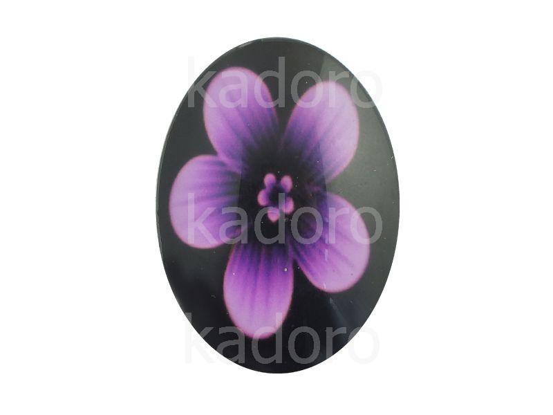 Kaboszon kwiaty XII 35x25 mm - 1 sztuka