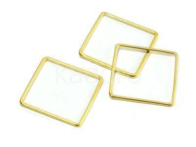 Baza kwadrat 20mm kolor złoty - 4 sztuki