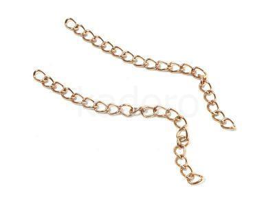 Łańcuszek wykończeniowy stalowy różowe złoto - 1 sztuka