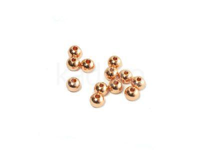 Kulki stalowe 4 mm różowe złoto - 2 sztuki