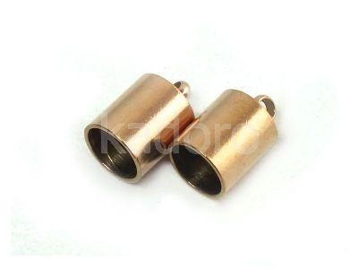 Stalowe końcówki do wklejania 11x7 mm różowe złoto - 2 sztuki