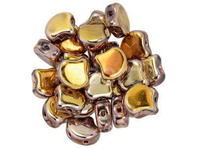 Ginko 7.5x7.5mm Crystal - Copper - 10 sztuk