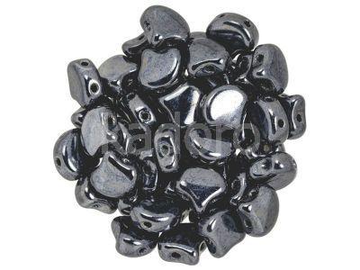 Ginko 7.5x7.5mm Hematite - 10 sztuk