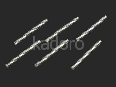 PRECIOSA Twisted Bugle 35mm-Silver-Lined Crystal SH - 10 sztuk