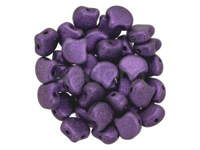 Ginko 7.5x7.5mm Metallic Suede Lavender - 10 sztuk