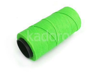 Sznurek brazylijski Neon Green 1mm - 3 m