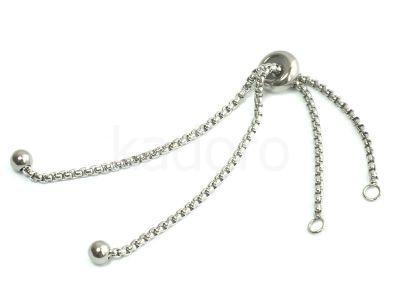 Baza bransoletki pod łącznik stalowa regulowana - 1 sztuka