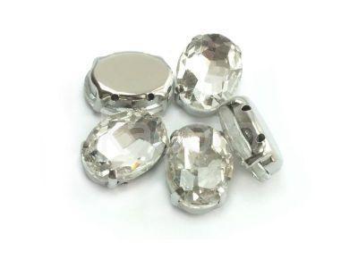 Montees kryształowe owal 14x10 mm - 1 sztuka