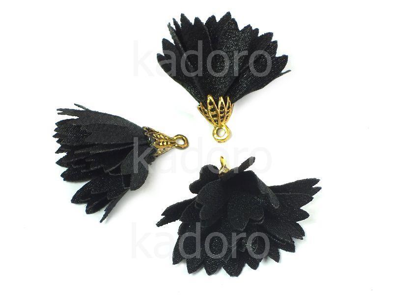 Kwiatek czarny 30 mm - 1 sztuka