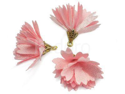 Kwiatek różowy 30 mm - 1 sztuka