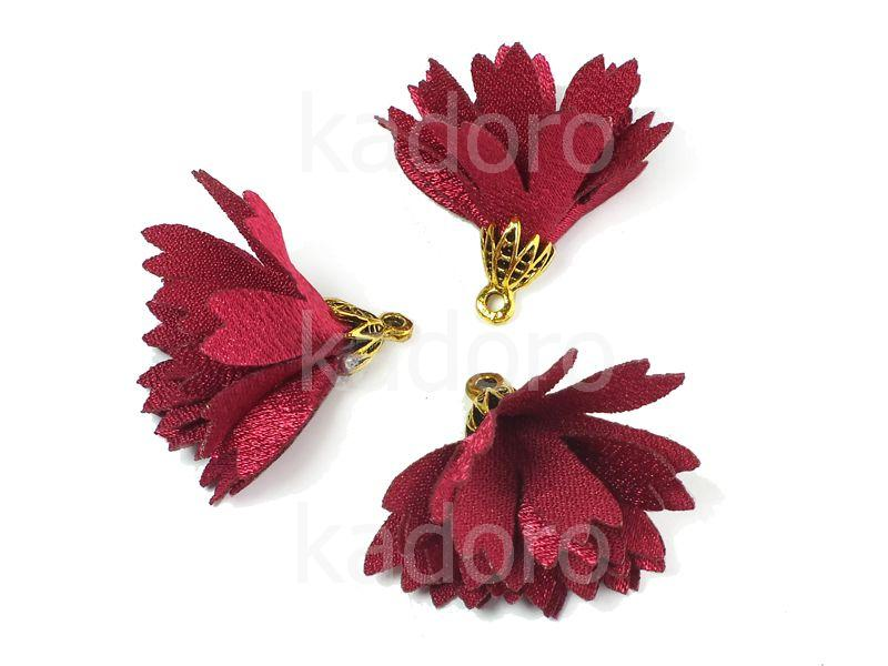 Kwiatek burgundowy 30 mm - 1 sztuka
