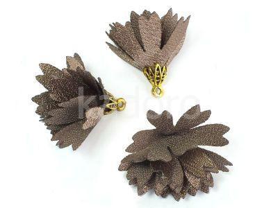 Kwiatek jasnobrązowy 30 mm - 1 sztuka