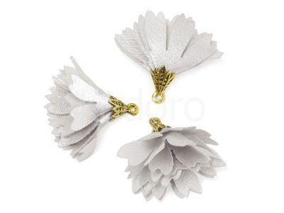 Kwiatek biały 30 mm - 1 sztuka