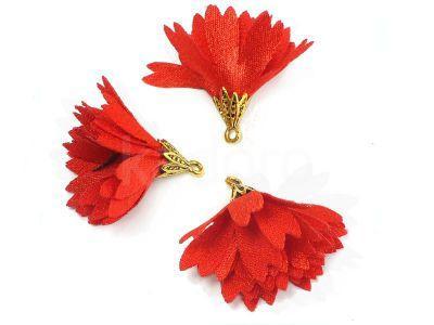 Kwiatek czerwony 30 mm - 1 sztuka