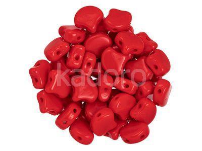 Ginko 7.5x7.5mm Opaque Red - 10 sztuk
