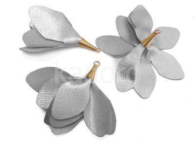 Kwiatek szary 55 mm - 1 sztuka