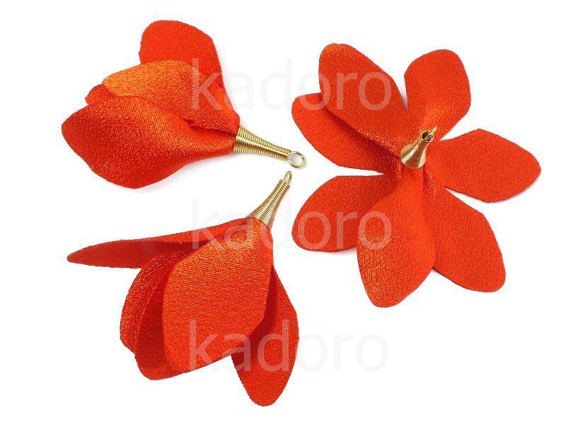 Kwiatek jasnoczerwony 55 mm - 1 sztuka