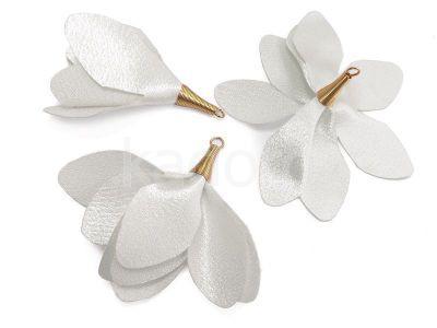 Kwiatek biały 55 mm - 1 sztuka