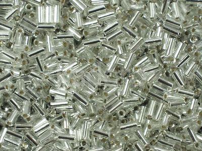Miyuki Bugle 1-1 Silver-Lined Crystal - 10 g