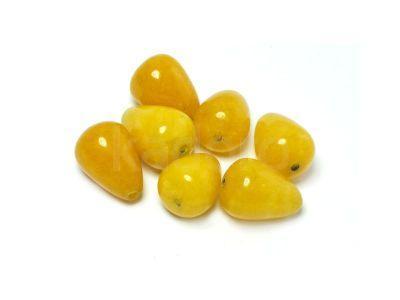 Jadeit żółty kropla 14x10 mm - 1 sztuka