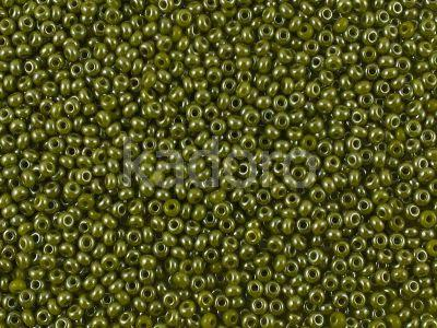 PRECIOSA Rocaille 6o-Opaque-Lustered Olive Green - 50 g