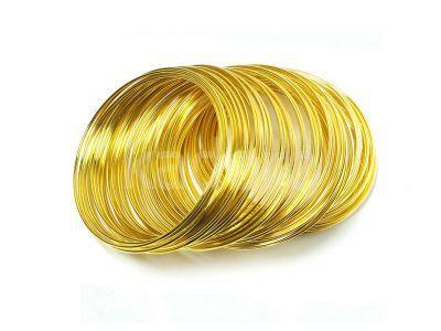 Stalowy drut pamięciowy na rękę gruby złoty - 10 żeberek