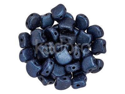 Ginko 7.5x7.5mm Metallic Suede Dark Blue - 10 sztuk