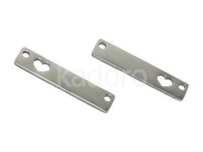 Łącznik stalowy prostokąt 24.5x5 mm - 1 sztuka