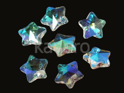 Szklana gwiazdka Crystal AB 13 mm - 1 sztuka