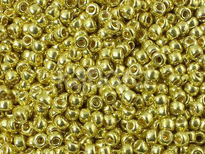 TOHO Round 8o-PF590 Permanent Finish - Galvanized Lemon Gold - 10 g