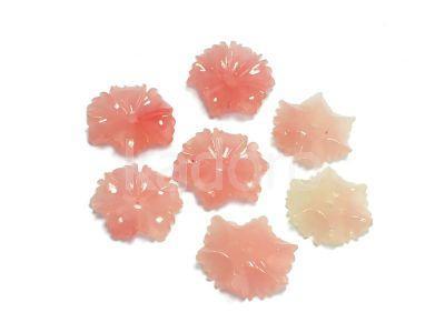 Koral syntetyczny kwiatek 14mm różowy - 1 sztuka