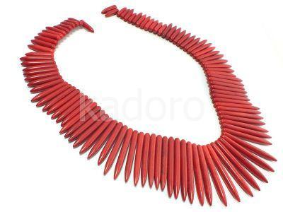 Howlit czerwony kły - sznur 46 cm