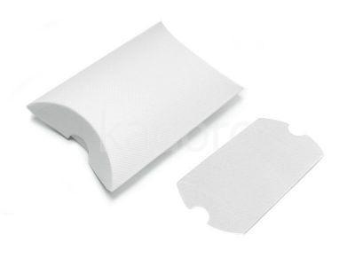 Opakowanie na kolczyki z teksturą płótna śnieżnobiałe - 1 sztuka