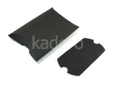 Opakowanie na kolczyki z teksturą płótna czarne - 1 sztuka