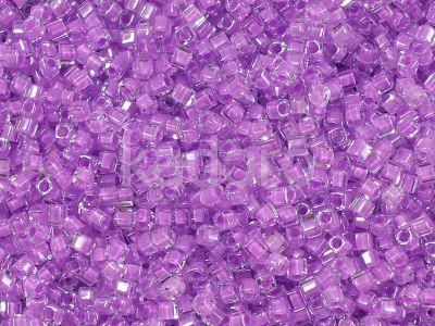 Miyuki Square 1.8mm-222 Inside-Color Crystal - Lilac Lined - 5 g