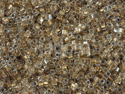 Miyuki Square 1.8mm-234 Sparkling Metallic Gold Lined Crystal  - 5 g