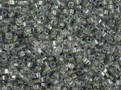 Miyuki Square 1.8mm-242 Sparkling Metallic Pewter Lined Crystal  - 5 g