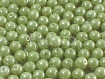 Round Beads Luster - Metallic Lt Green 6 mm - 20 sztuk