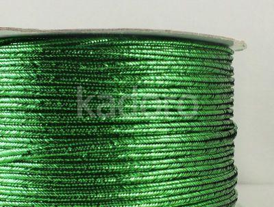 Sutasz chiński zielony metalizowany 3mm - szpulka 50 m