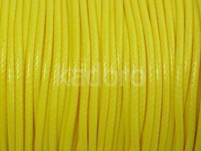 Sznurek lakierowany neonowy żółty 2 mm - 2 m