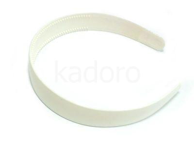 Baza opaski do włosów plastikowa kolor biały - 1 sztuka