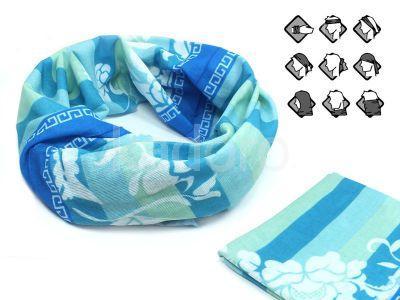 Komin wielofunkcyjny bandana niebiesko-zielona