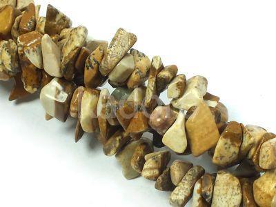 Jaspis krajobrazowy sieczka 5-12 mm - długi sznur 91 cm