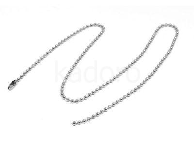 Łańcuszek stalowy kulkowy 2mm z zapięciem - 45 cm