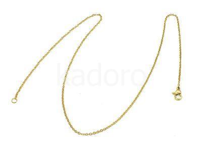 Łańcuszek stalowy złoty 1.5mm z zapięciem - 45 cm