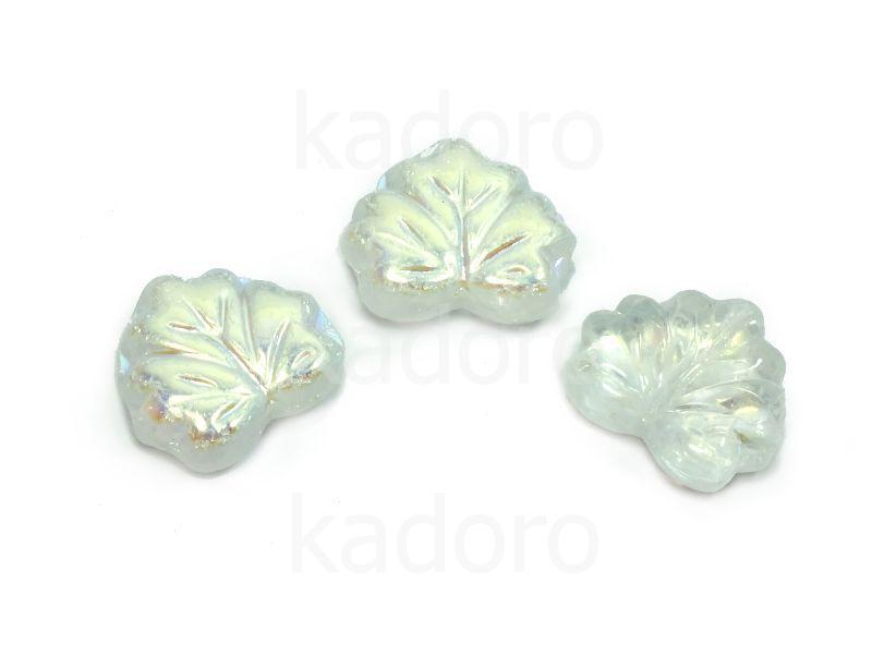 Maple Leaves Crystal AB 13x11mm - 2 sztuki