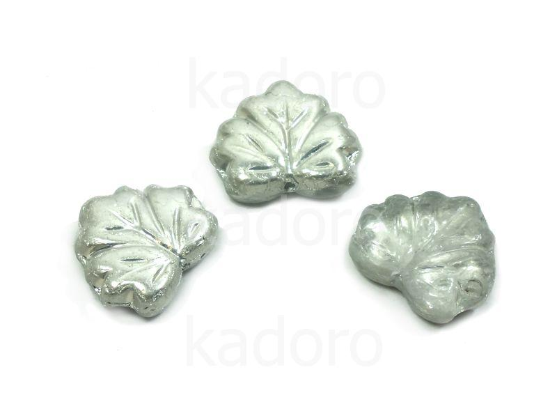 Maple Leaves Silver 1/2 13x11mm - 2 sztuki