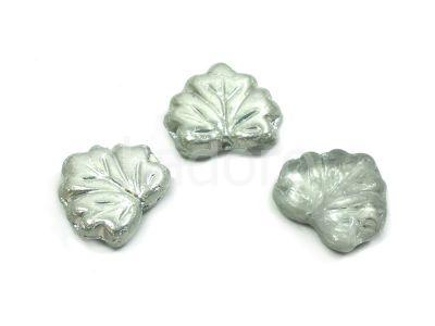 Maple Leaves Silver 1/2 13x11mm - 2 sztuki