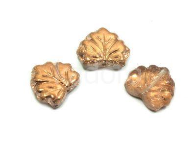 Maple Leaves Apollo Gold 13x11mm - 2 sztuki
