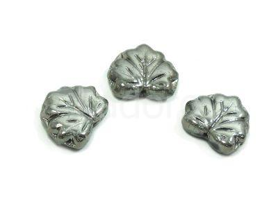 Maple Leaves Chrome 13x11mm - 2 sztuki
